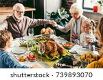 family holding hands and... | Shutterstock . vector #739893070