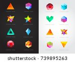 big set of geometric shapes... | Shutterstock .eps vector #739895263