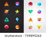 big set of geometric shapes... | Shutterstock .eps vector #739895263