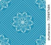 decorative geometric pattern... | Shutterstock .eps vector #739897684