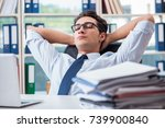 tired exhausted businessman... | Shutterstock . vector #739900840