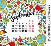 calendar. month. abstract...   Shutterstock .eps vector #739901293