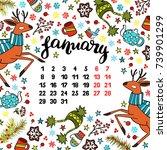 calendar. month. abstract... | Shutterstock .eps vector #739901299