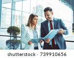 young business people are... | Shutterstock . vector #739910656