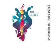 modern vivid poster art studio. ...   Shutterstock .eps vector #739910788