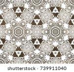 ethnic design. striped... | Shutterstock . vector #739911040