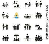 vector set of icons related to... | Shutterstock .eps vector #739911229