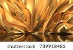 Luxury Golden Background. 3d...