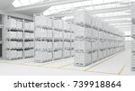 clean warehouse or stock depot... | Shutterstock . vector #739918864