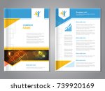 vector modern brochure with... | Shutterstock .eps vector #739920169