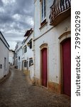 empty street in the typical... | Shutterstock . vector #739920298