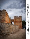 detail of the ruins of paderne... | Shutterstock . vector #739920328