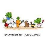 illustration of root crop... | Shutterstock .eps vector #739922983