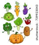 illustration of vegetables... | Shutterstock .eps vector #739923043