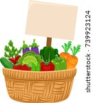 illustration of a basket full... | Shutterstock .eps vector #739923124