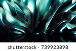 luxury golden background. 3d... | Shutterstock . vector #739923898