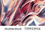 luxury golden background. 3d... | Shutterstock . vector #739923916