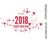 happy new year 2018 theme.  | Shutterstock .eps vector #739930960