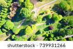 aerial bird's eye view photo... | Shutterstock . vector #739931266