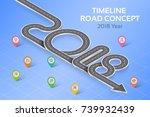 isometric navigation map... | Shutterstock .eps vector #739932439