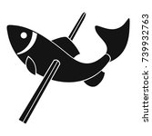 fishing icon. simple... | Shutterstock .eps vector #739932763