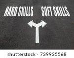hard skills vs soft skills... | Shutterstock . vector #739935568