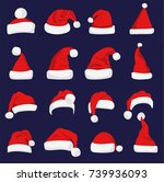 santa claus red hat isolated... | Shutterstock .eps vector #739936093