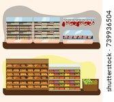 set of supermarket departments  ... | Shutterstock .eps vector #739936504
