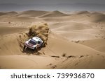 Small photo of Erfoud, Morocco. October 9, 2017. Oilibya Cross-Country Rally of Morocco, preparation to Dakar 2018. Sebastien Loeb - Daniel Elena, Peugeot 3008 DKR, in the dunes.