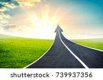 highway road going up as an...   Shutterstock . vector #739937356