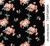 flowers pattern..for textile ... | Shutterstock . vector #739938904