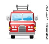 fire truck icon | Shutterstock .eps vector #739941964