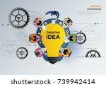 idea concept for business...   Shutterstock .eps vector #739942414