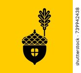 acorn flat vector icon or logo. ...   Shutterstock .eps vector #739942438