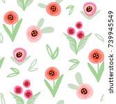 vector lovely seamless pattern... | Shutterstock .eps vector #739945549