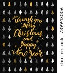 we wish you merry christmas and ... | Shutterstock .eps vector #739948006