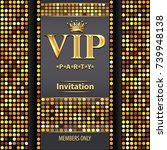 illustration design invitations ... | Shutterstock .eps vector #739948138