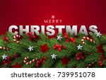 holiday's background with... | Shutterstock .eps vector #739951078