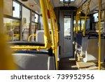 selective focus of empty city... | Shutterstock . vector #739952956