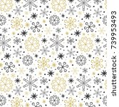 seamless pattern with... | Shutterstock .eps vector #739953493