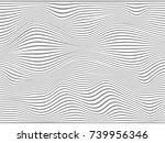 warped gray lines.gray stripes... | Shutterstock . vector #739956346