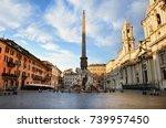 piazza navona in the morning ... | Shutterstock . vector #739957450