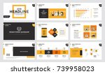 presentation slide templates... | Shutterstock .eps vector #739958023