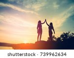real success story in the... | Shutterstock . vector #739962634