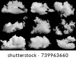 set of clouds white on isolated ... | Shutterstock . vector #739963660