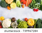 healthy eating  top view of... | Shutterstock . vector #739967284