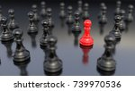 leadership concept  red pawn of ... | Shutterstock . vector #739970536