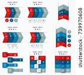 set with infographics. data and ... | Shutterstock .eps vector #739970608