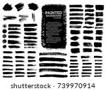 painted grunge stripes set.... | Shutterstock .eps vector #739970914
