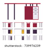 working table furniture set.... | Shutterstock .eps vector #739976239